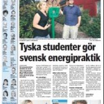 Oskarshamn Newspaper article: Interview with Steffi and Armin