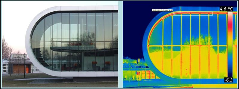 Picture: Thermographic investigation of the building envelope Project House MeTeOr University Chemnitz