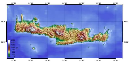 picture: map of Crete