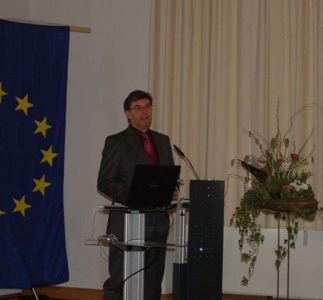 Pciture: Mr Kupfer opened the event