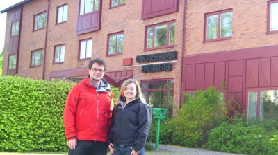 Picture: Steffi Hänig and Achim Verch in Smaland